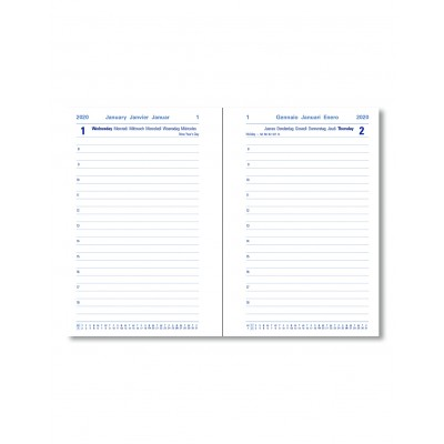 Memo Compact Pocket Day to Page Diary with Appointments 2020